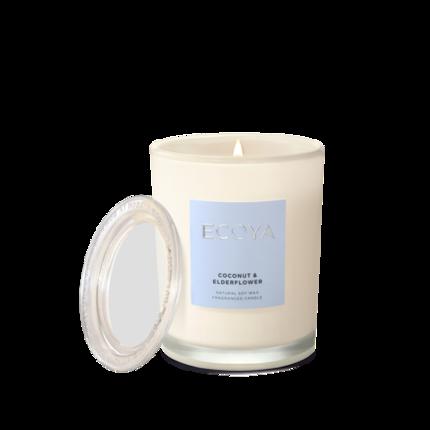 ECOYA Candle in Metro Jar - Coconut & Elderflower