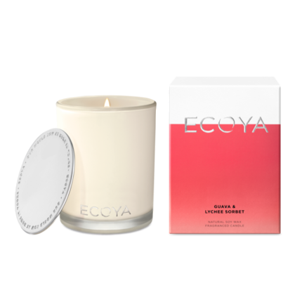 ECOYA Candle in Madison Jar - Guava & Lychee