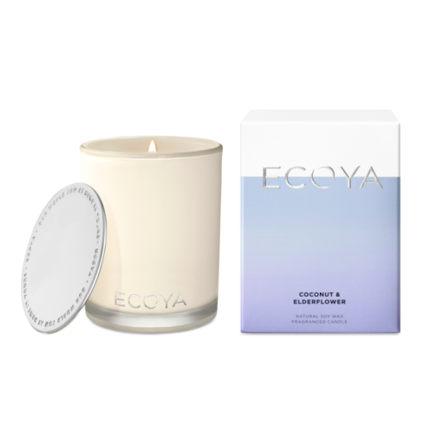 ECOYA Candle in Madison Jar - Coconut & Elderflower