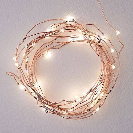 SolarNights 5m LED Seed Lights - Copper