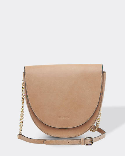 Slyfox Eclipse Leather Saddle Bag - Nude