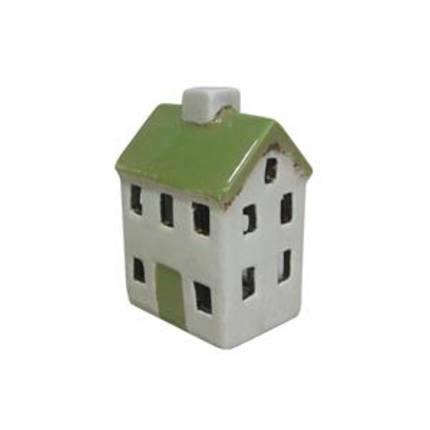 Cream/Green Tea Light House