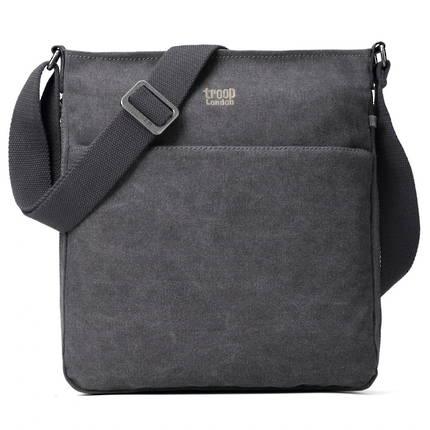 Classic Zip Top Shoulder Bag - Charcoal