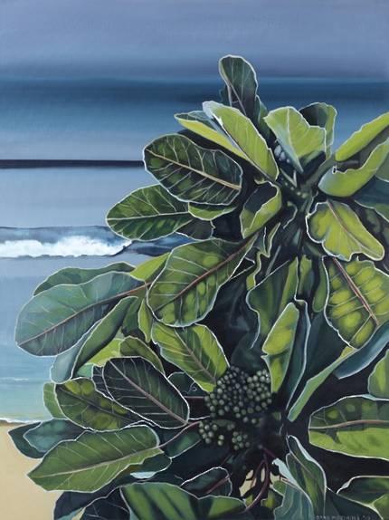Arna Marshall Art - Puka in Paradise (white frame)