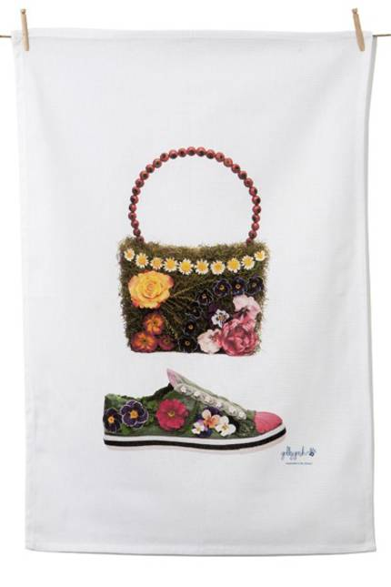 Tea Towel - Daisy Chain Bag & Pansy Shoe