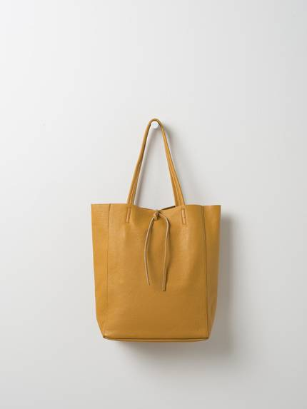 Florence Leather Tote Bag - Mustard