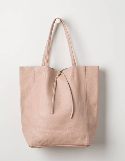Florence Leather Tote Bag - Rose