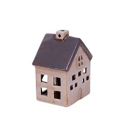 Grey Petite Chalet Tea Light House
