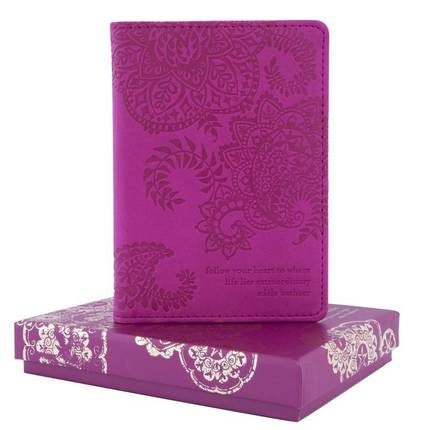 Passport Holder - Plum Cherry