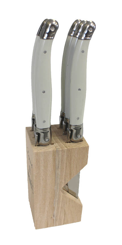 Verdier Steak Knife block - White