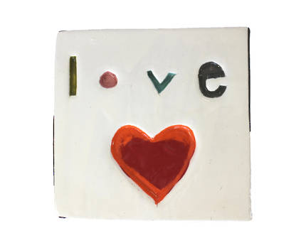 Monster ceramic - Love Tile