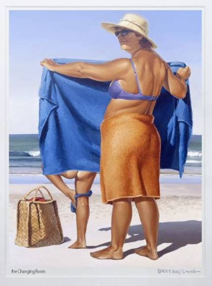 Barry Ross Smith Framed Print - The Changing Room