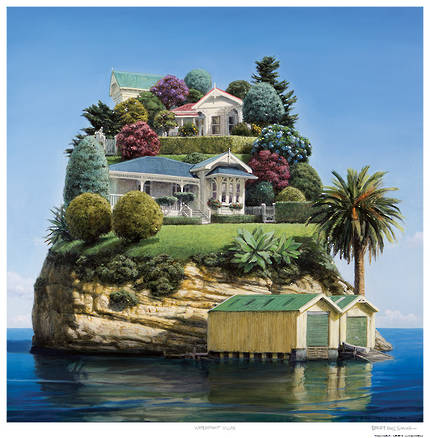 Barry Ross Smith Framed Print - Waterfront Villas