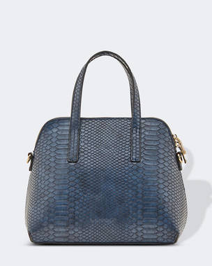 Candice Croc Bag - Navy