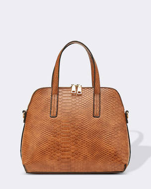 Candice Croc Bag - Cognac