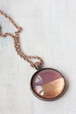 Large Foil Necklace - Plum - OUT OF STOCK