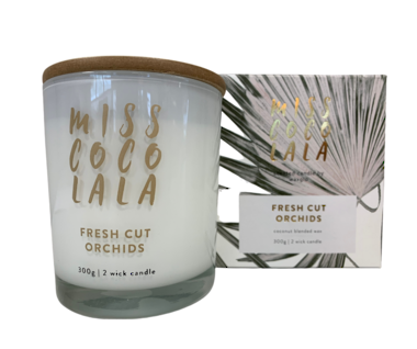 300g Miss Coco Lala Candle - Fresh Orchids
