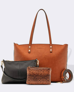 Riley Trio Bag - Tan