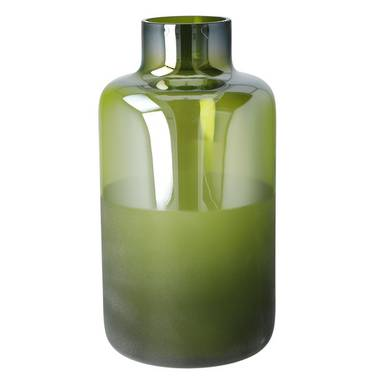 Moss Shadows Glass Vase in Green 30cm