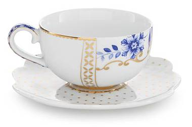 Pip Royal White - Tea Cup and Saucer