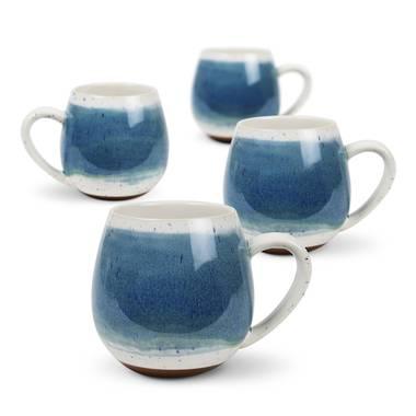 Mediterranean Hug Me Mugs 4 pack - Blue