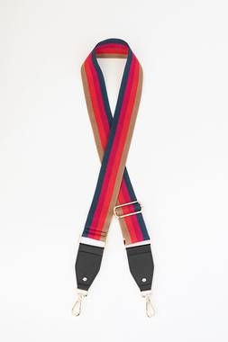 Bag Strap - Red and Navy Stripe