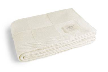 Benmore Baby Wool Blanket - White
