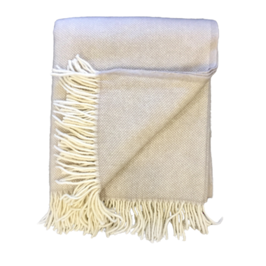 Lambs Wool Blanket - Napa Basket Weave