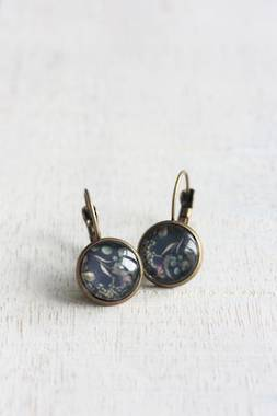 Botanical Earrings - Navy - OUT OF STOCK