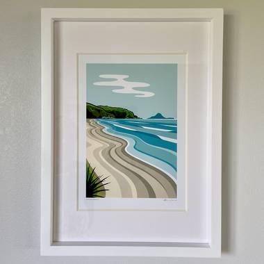 Ohope Beach A4 Print by Glenn Jones