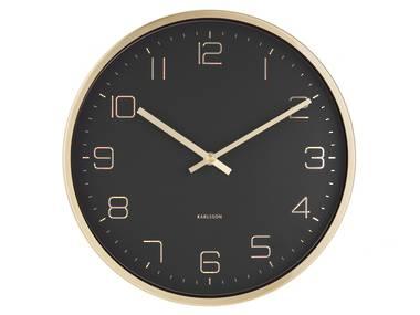 Karlsson Gold Elegance Wall Clock in Black