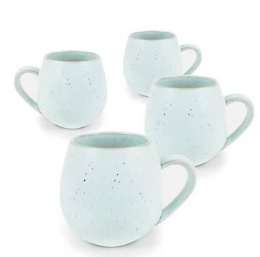 Hug Me Mugs 4 Pack - Speckled Green