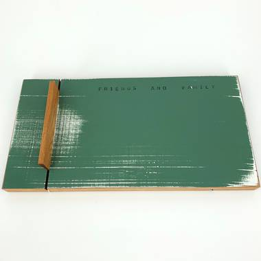 Small Rimu Cheese Board with Knife - Dark Green