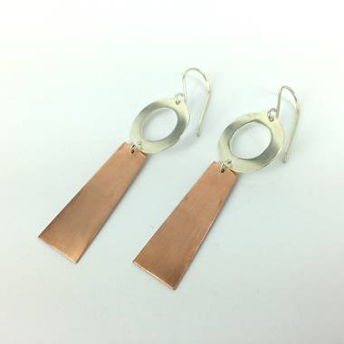 Rooby Copper and Silver Earrings