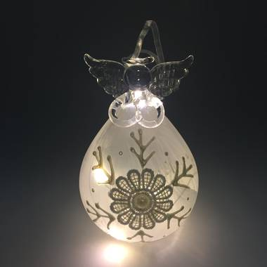 Glass Angel with Lace Finish