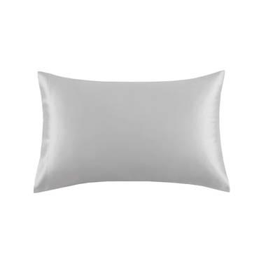 Silk Pillowcover in Pewter