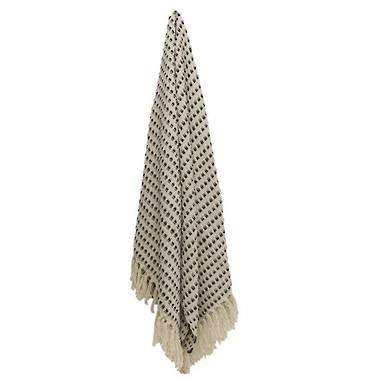 French Country Halm Dot Throw
