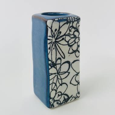 Monokuro Rectangle Vase in Blue