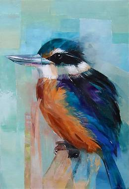 Sheila Brown Art - NZ Kingfisher