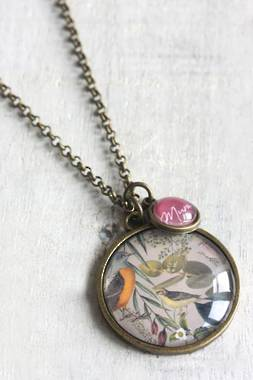 Botanical 'Mum' Necklace - Sage - OUT OF STOCK