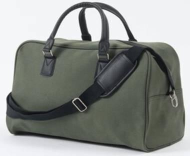 Canvas Weekender Bag in Olive Green