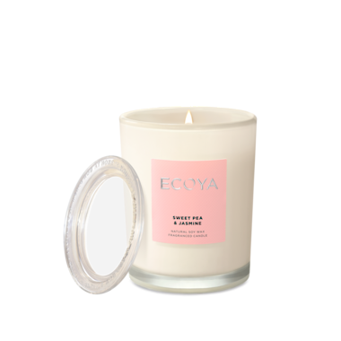ECOYA Candle in Metro Jar - Sweet Pea & Jasmine