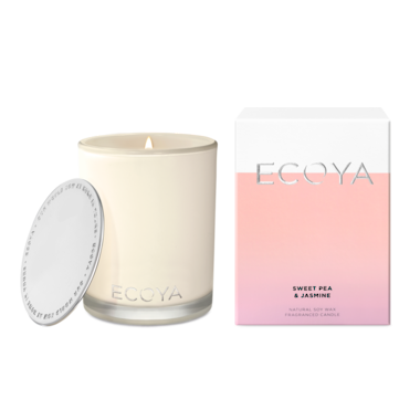 ECOYA Candle in Madison Jar - Sweet Pea & Jasmine