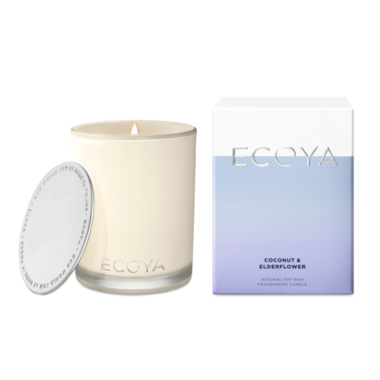 ECOYA Candle in Madison Jar - Coconut & Elderflower