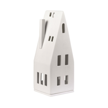 Porcelain Tealight House - Pitched Roof