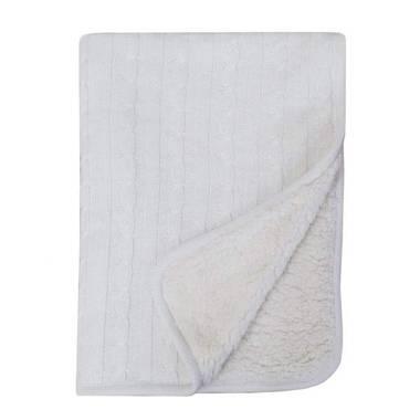 Sherpa Baby Blanket – White