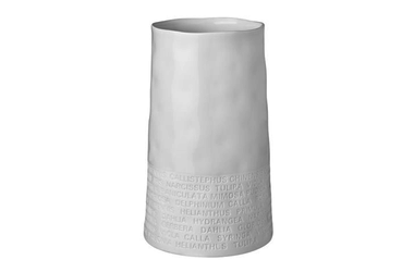 Räder Porcelain Vase - Wide Poetry