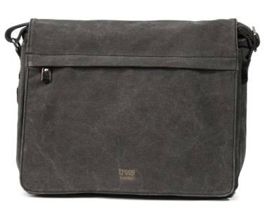 Classic Flap Front Messenger Bag XL - Charcoal