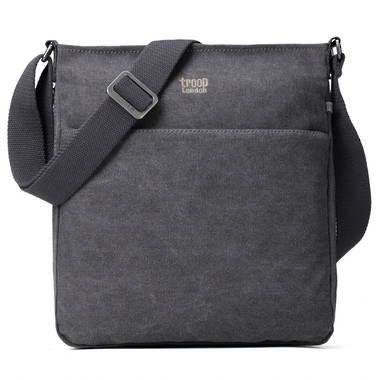 Classic Small Zip Top Shoulder Bag - Charcoal