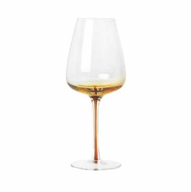 Broste Amber White Wine Glasses